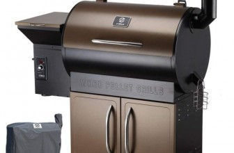 Z Grills Wood Pellet Grill and Smoker With Patio Cover